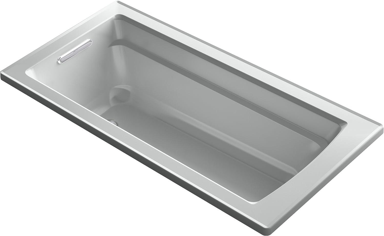 Kohler K-1948-0 Archer ExoCrylic 66-Inch X 32-Inch Drop-In Bath with Reversible Drain White