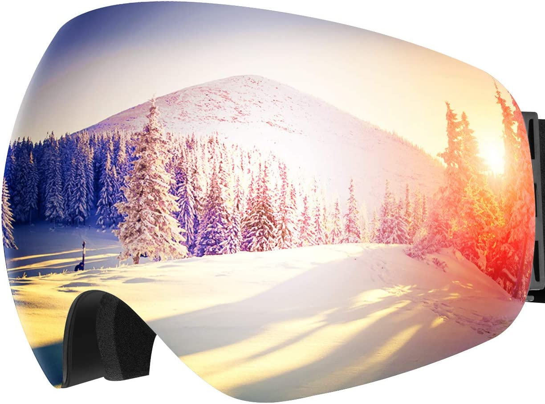 Snowboard Goggles,OMORC Ski Skate Snowboarding Goggles for Ski Snowboard Sledding Trip,OTG Anti-fog Polarized Lenses Snowboard Goggles With UV Protection,Helmet Compatible for Ski,Snowboard,Snowblower