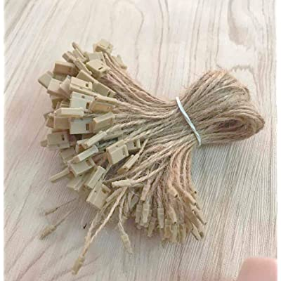 "Hemp Twine Strings for tags 7"", 1000 Pcs Hang Tag Fasteners with Security Loop Pin Tie Easy and Fast To Attach Hang Tag by Cshopcc : Office Products"