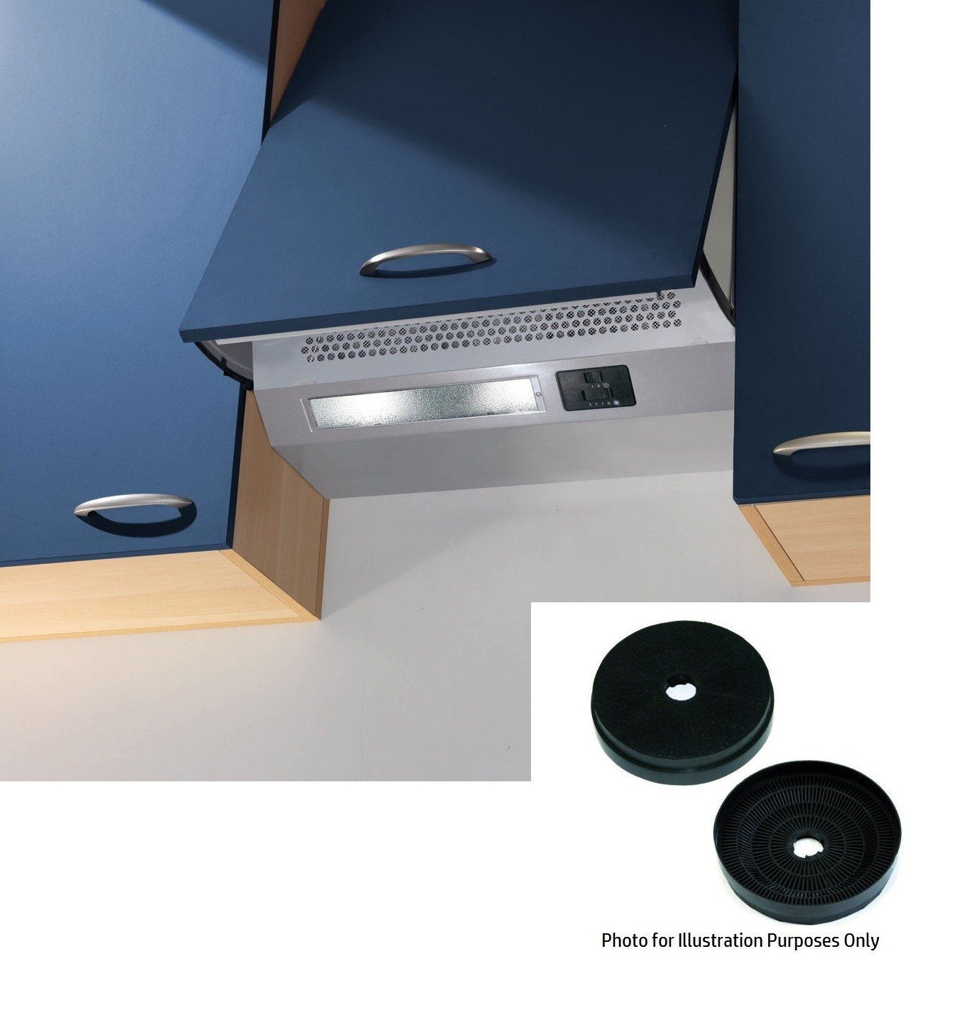 Cookology Integrated Cooker hood INT600SI in Grey 60cm Extractor Fan & Recirculating Filters INT600SI CCF200