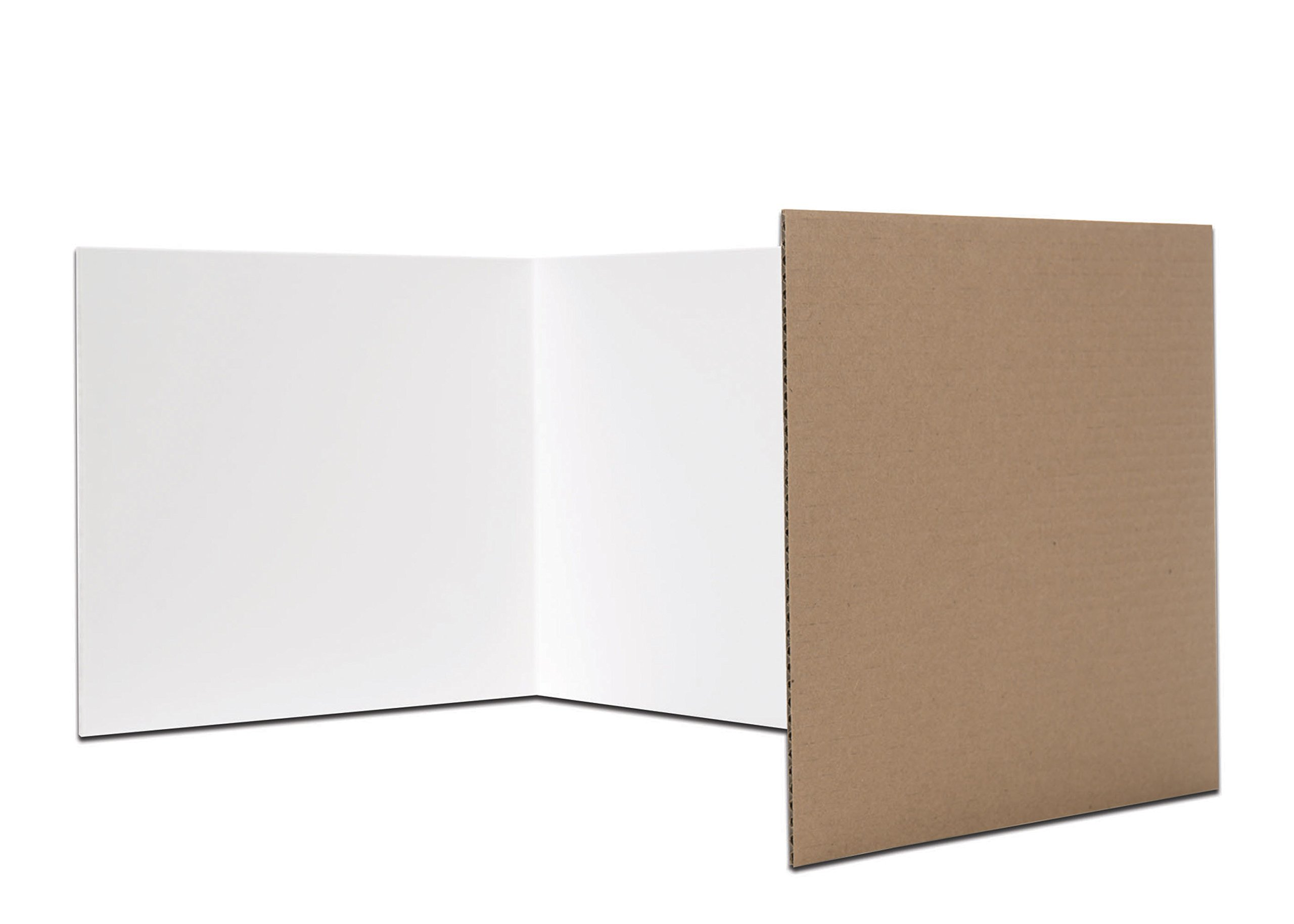 Flipside Products 61848 18'' x 48'' Privacy Shield, White (Pack of 24)