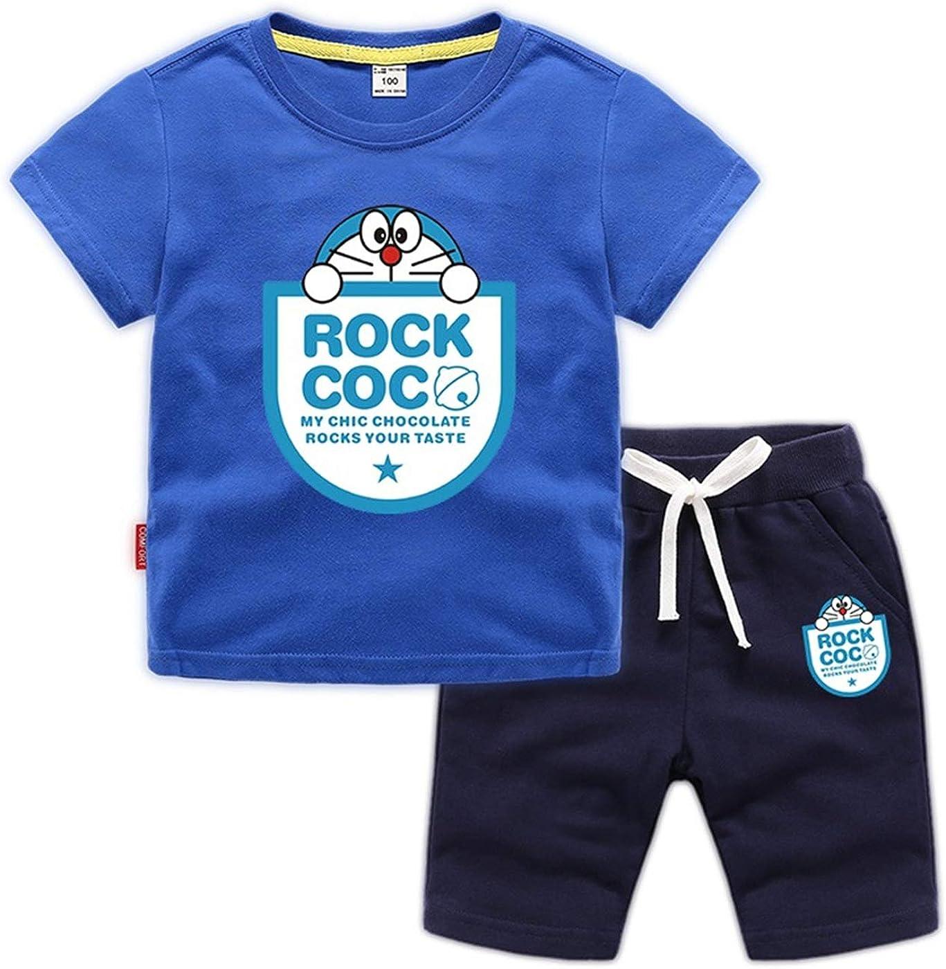 Disney Boys Premium 2-Piece Cotton T-Shirt /& Mesh Shorts Outfit Set For Infant /& Boys Toddler