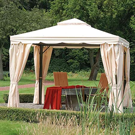 Siena Garden 587959 - Toldo de Repuesto para Gazebo Dubai (300 x 300 cm), Color Natural: Amazon.es: Jardín