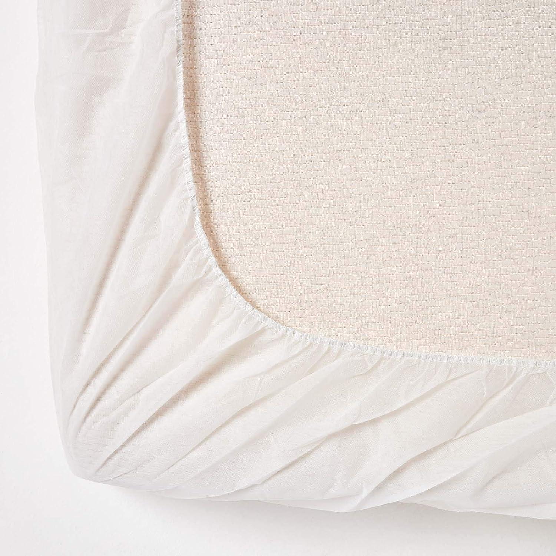 HOMESCAPES Prot/ège-Matelas 120 x 190 cm /à /élastique Coton Matelass/é