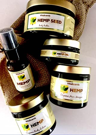 VitaScents Hemp Oil Facial SERUM Hair Masque Body Silk Body Butter Hemp Oil Combo
