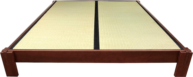 Oriental Furniture Tatami Platform Bed - Walnut - Twin