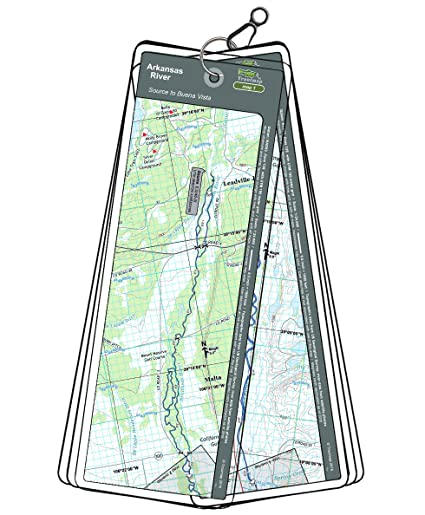 Amazon Com Arkansas River Map Set Colorado Source To Buena