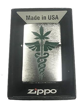 Amazon Zippo Custom Lighter Medical Marijuana Weed Pot Leaf