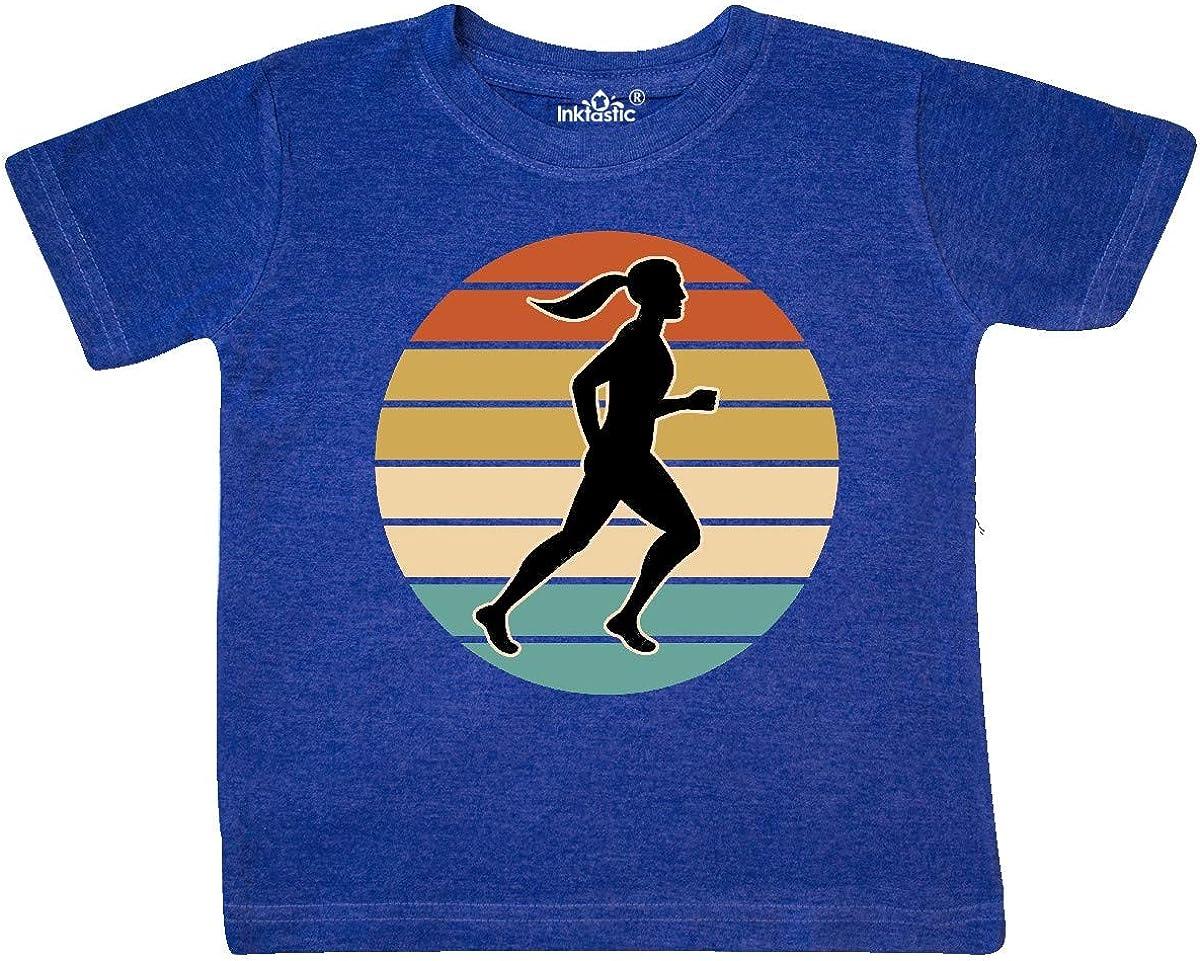 inktastic Running Gift Female Runner Toddler T-Shirt