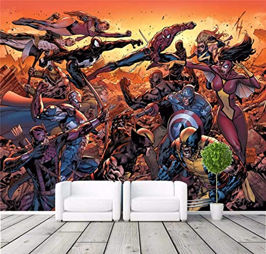 Vandelkt Cartoon Avengers Wallpaper Movie Mural Marvel
