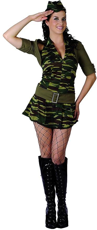 Disfraz militar mujer - S: Amazon.es: Juguetes y juegos