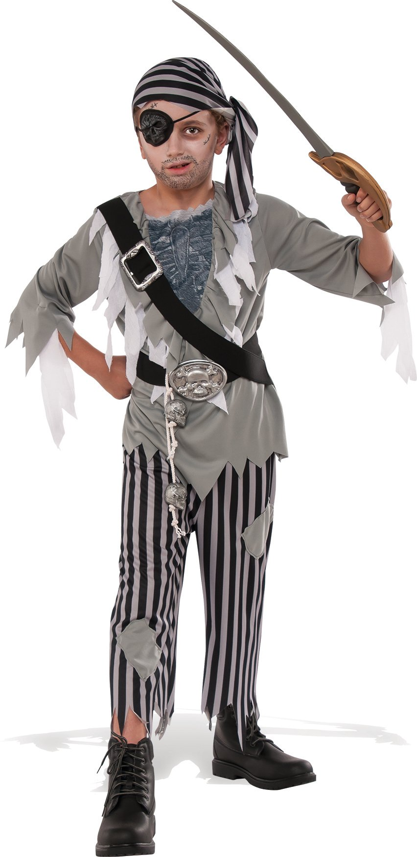 Rubies Child's Ghostly Boy Pirate Costume, Small, Multicolor