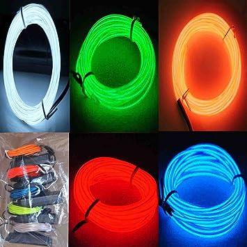 Amazon.com: 5 Pack - Jytrend 9ft Neon Light El Wire w/ Battery ...