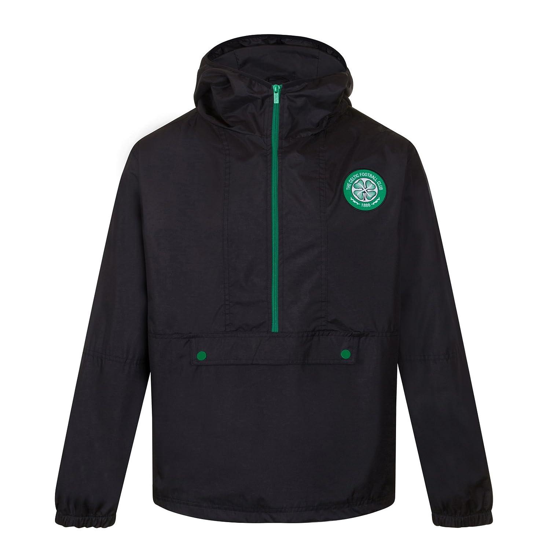 Celtic FC Official Soccer Gift Boys Half Zip Shower Jacket Windbreaker