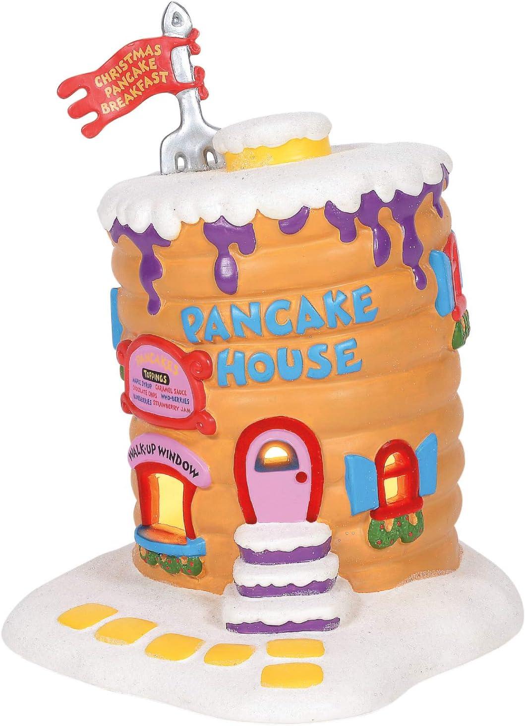 Department 56 Grinch Village Whoville Pancake House Lit Building Multicolor 8.25 Inch