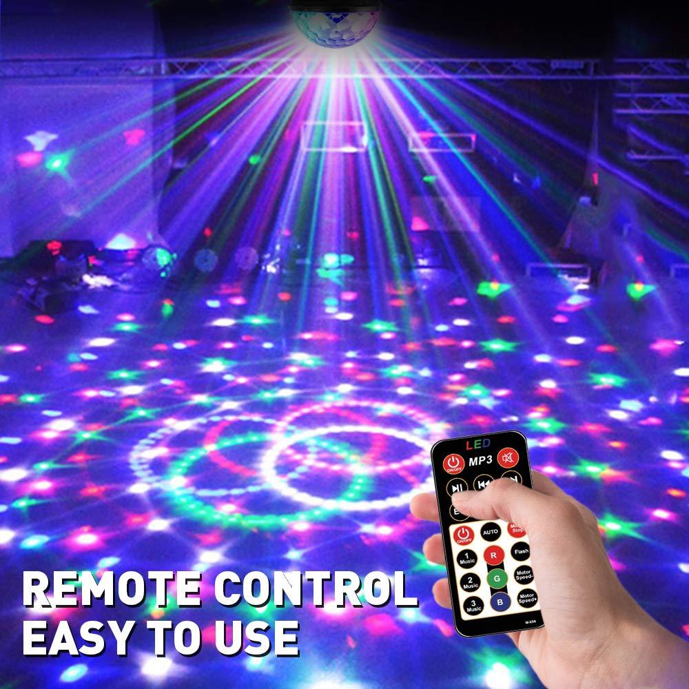 DJ Disco Lumi/ère de Stade Eclairage Soir/ée Club F/ête Lumi/ère Ampoule Boule Cristal pour KTV Bar Projecteur Spot RGB LED UBEGOOD Lampe de Sc/ène