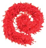 Feather Boa 80g. Red Budget. (Costume Accessories) - Female - One Size