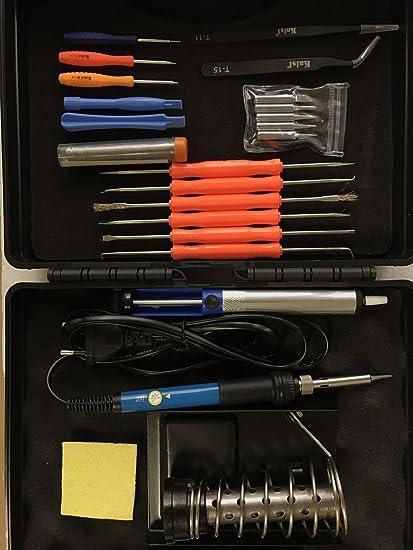 tooltack 24 en 1 Set de soldador Set de soldadura, 60 W 220 V soldador