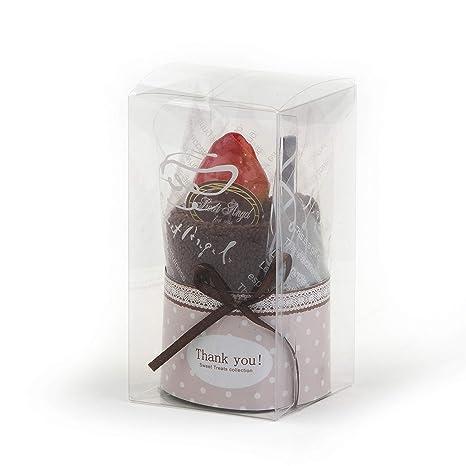 Mopec A1046 - Toalla con forma de pastel de chocolate, 1 unidad