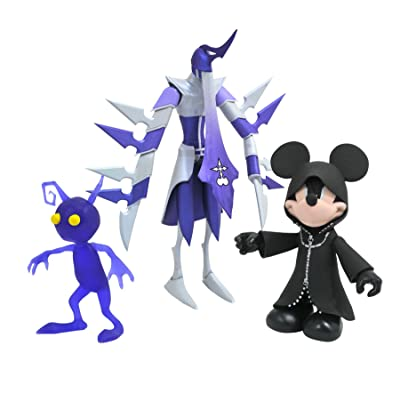 DIAMOND SELECT TOYS Kingdom Hearts Select: Hooded Mickey, Assassin & Purple Shadow Action Figure Multi-Pack: Toys & Games