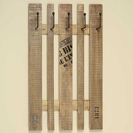 Garderobe Mango Altholz Shabby Landhaus Holz Hakenleiste H 80cm