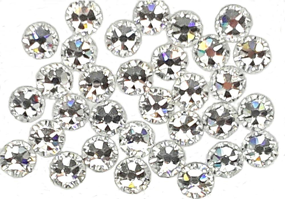Pack of 100 EIMASS® Exquisite 8898 Hot Fix Crystals, Flat Back Glass Gems, Diamante, Swarovski Alternative