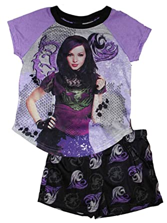 Disney Descendants Mal Girls Pajamas 4-16 (XS 4/5)