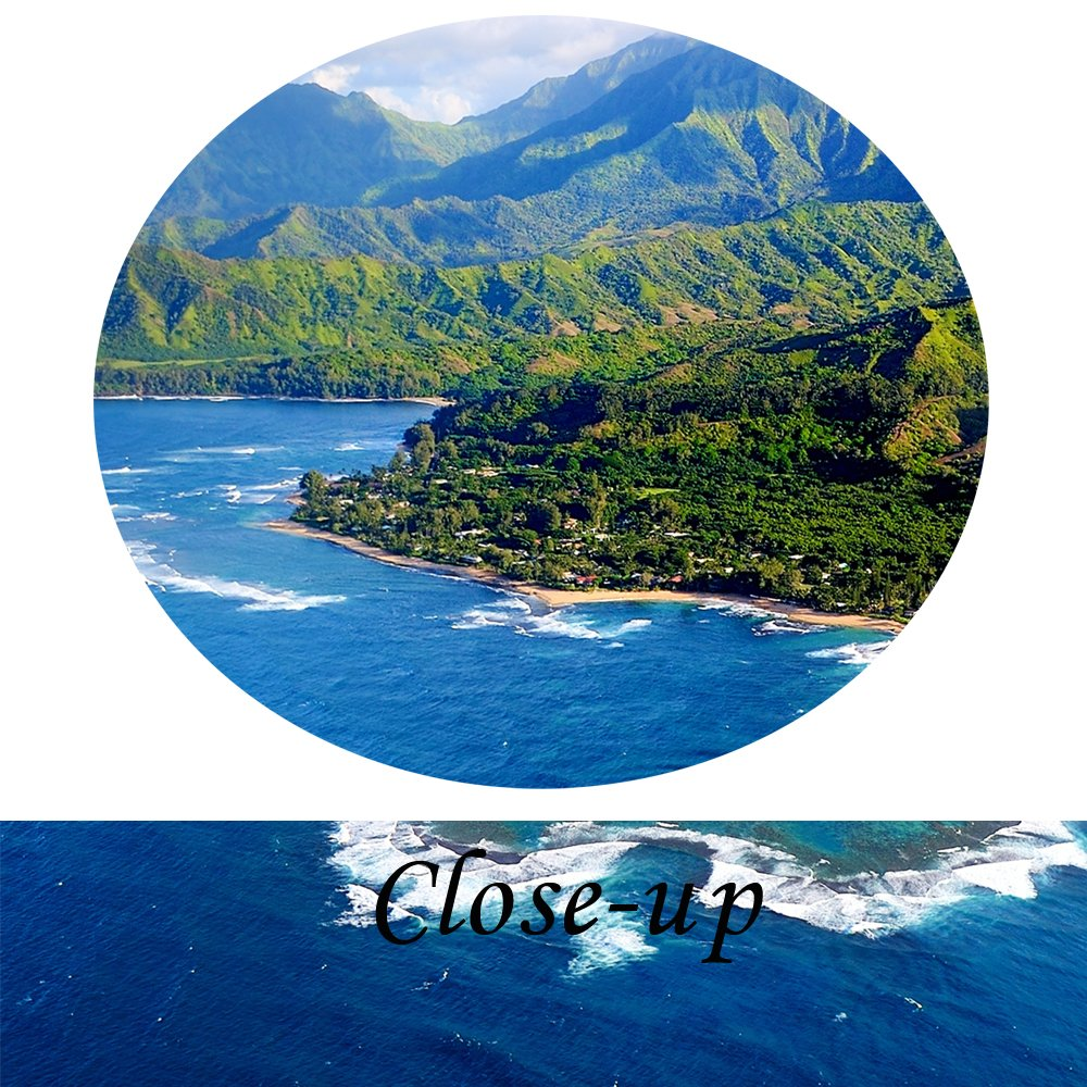 Kreative Arts Beautiful Aerial View of Spectacular Na Pali Coast Kauai Canvas Prints Wall Art 4 Pieces Blue Sky Hawaii Islands Nature Painting Modern Artwork Contemporary Pictures for Office Decor