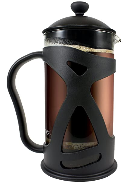Idylc Homes Thermal Shock Resistant Glass Kona French Coffee Maker and Tea Press (34 Oz)