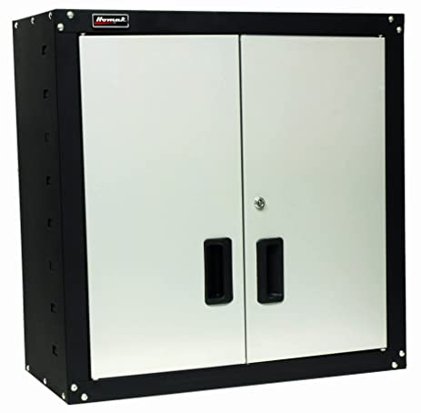Homak GS00727021 2 Door Wall Cabinet with 2 Shelves, Steel - Tool ...