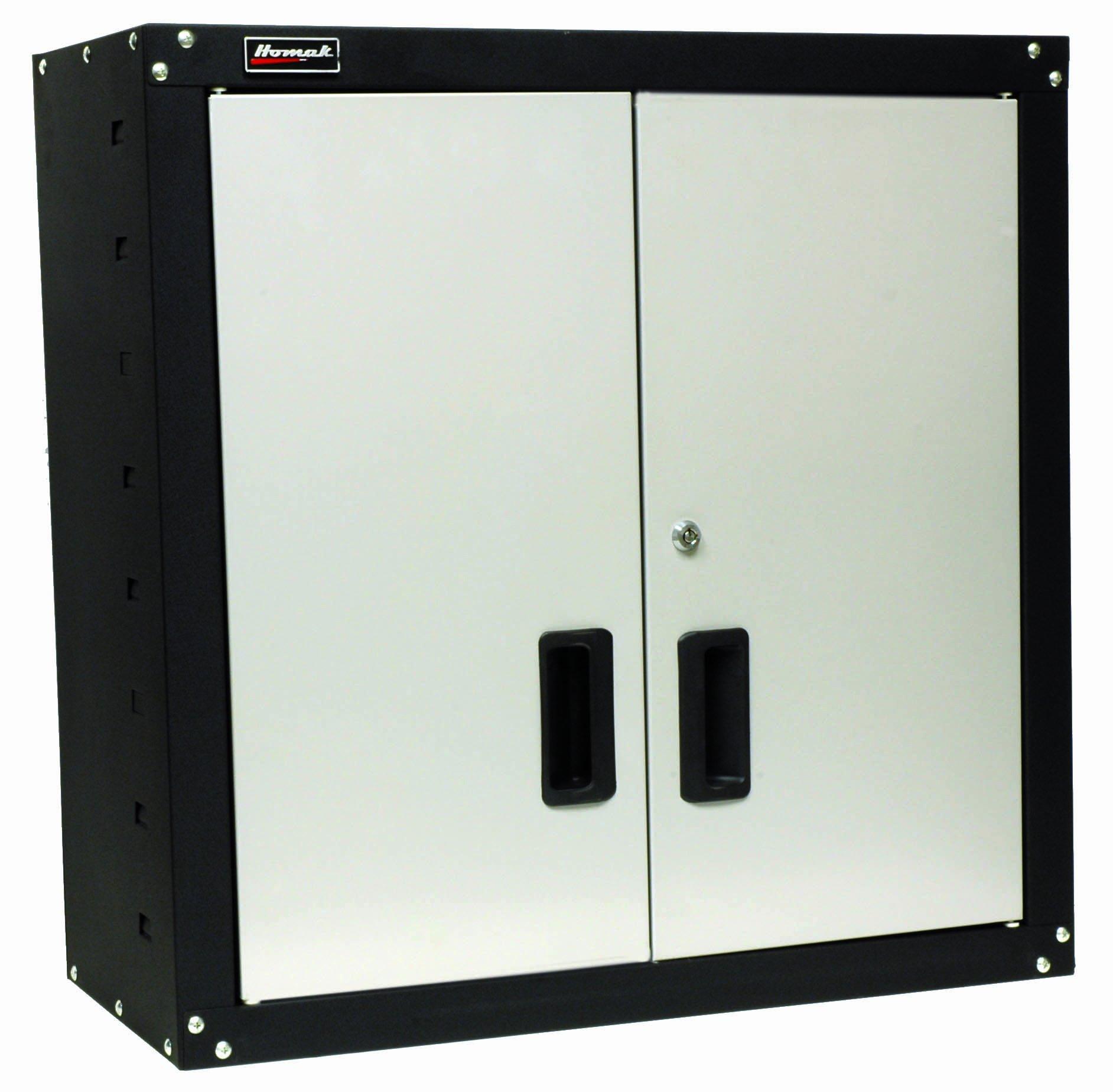 7137rN0uF L - Homak 2 Door Wall Cabinet with 2 Shelves, Steel, GS00727021
