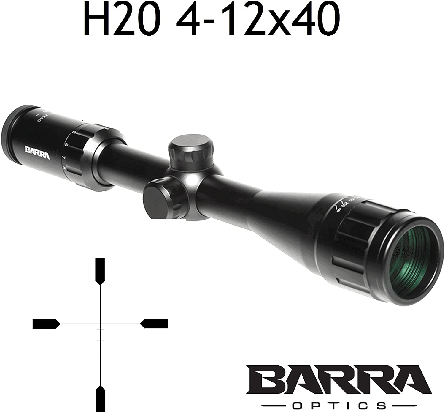 Barra Rifle Scope, BDC Reticle Capped Turrets for Hunting Shooting Precision Deer Hog Venison Varmint