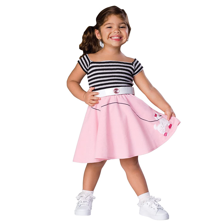 sc 1 st  Amazon.com & Amazon.com: Sock Hop Costume: Toddleru0027s Size 2-4: Clothing