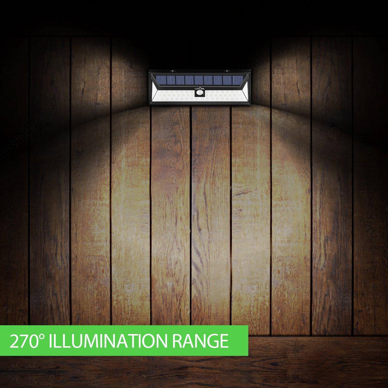 Litom Super Bright Solar Lights 54 LED Solar Power Outdoor Motion Sensor Light With LED on Both Side by Litom (Image #5)