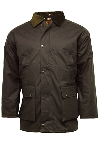 7073e683b0 Game British Quilted Padded Country Wax Cotton Rain Jacket  Amazon.co.uk   Clothing