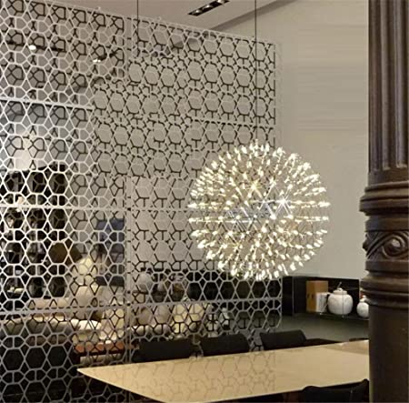 Colgante Lámpara Creative ronda de bolas luces de la escalera ...