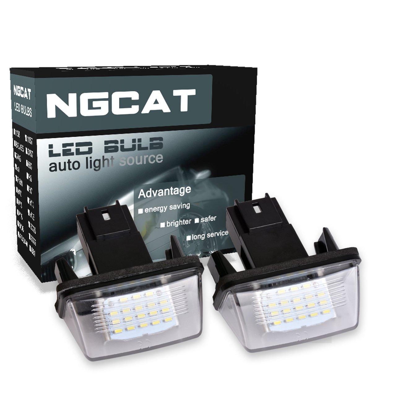 NGCAT 1 Pair Led number plate light Number License Plate Light Lamp License CanBus led bulb
