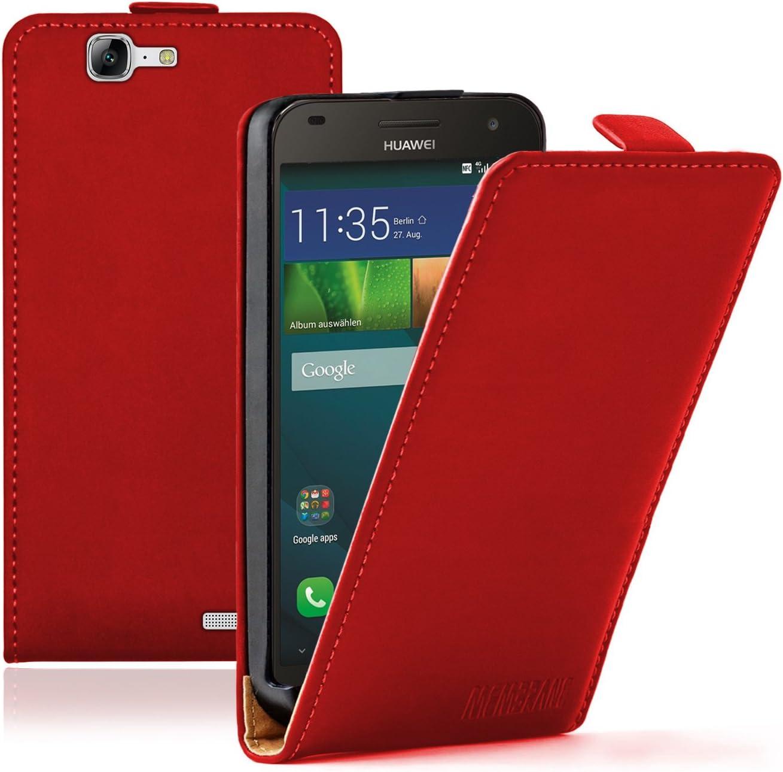 Membrane - Ultra Slim Rojo Funda Compatible con Huawei Ascend G7 + ...