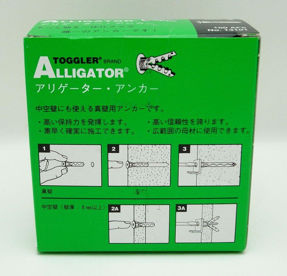 Pack of 100 104460755 TOGGLER ALLIGATOR AF6 Flanged Anchor Mechanical Plastics Corp Polypropylene Made in US For #6 to #12 Fastener Sizes