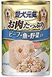 愛犬元気 缶 ビーフ・魚・野菜入り 375g×24個入 【ケース販売】