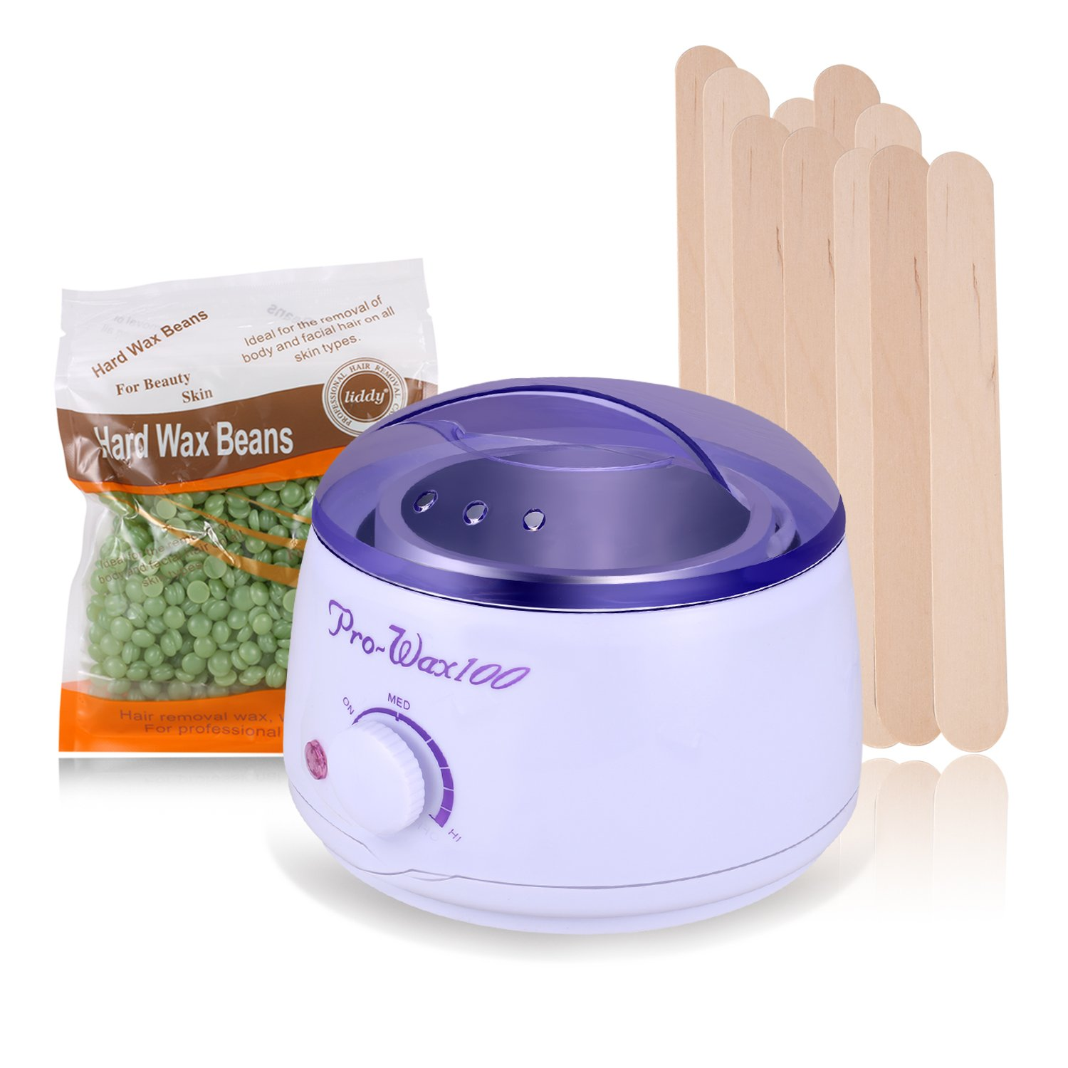 Guisee Wax Warmer, Electric Remover Waxing Kit with Hard Wax Beans for Unwanted Hair Remove, Special Designed for All Parts, Suitable for Both Women and Men