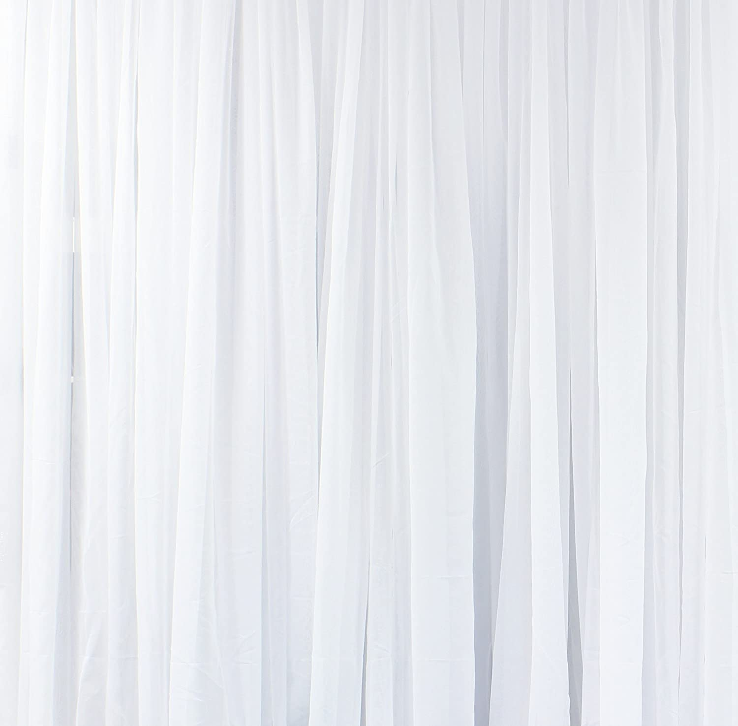 Nice Amazon.com: GoodGram® 2 Pack: Basic Rod Pocket Sheer Voile Window Curtain  Panels In White By (84 In. Long): Home U0026 Kitchen