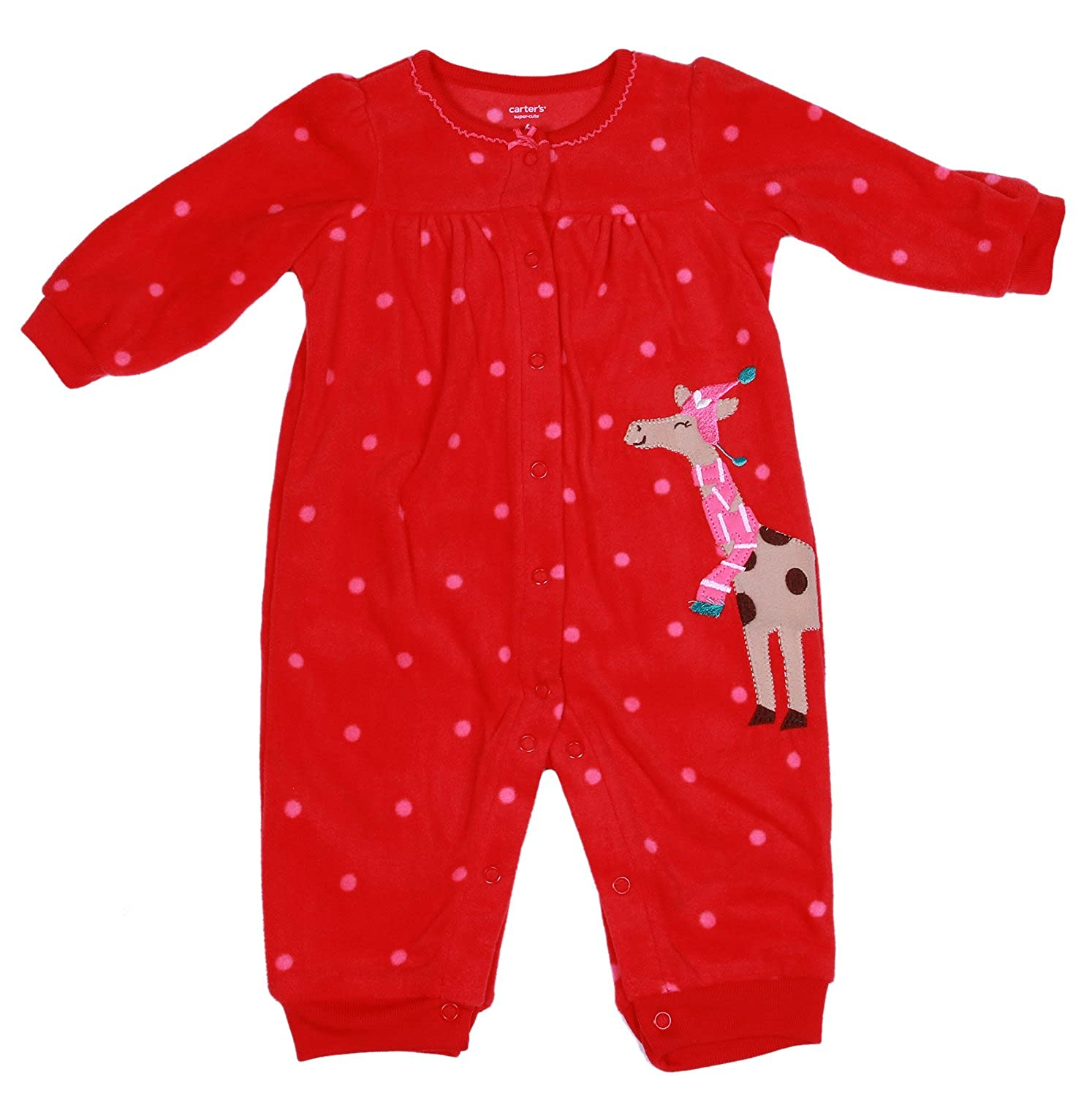 Carters Girls Winter Fleece Jumper Pajamas Newborn 5 In 1 Infant And Toddler Rompers Clothing