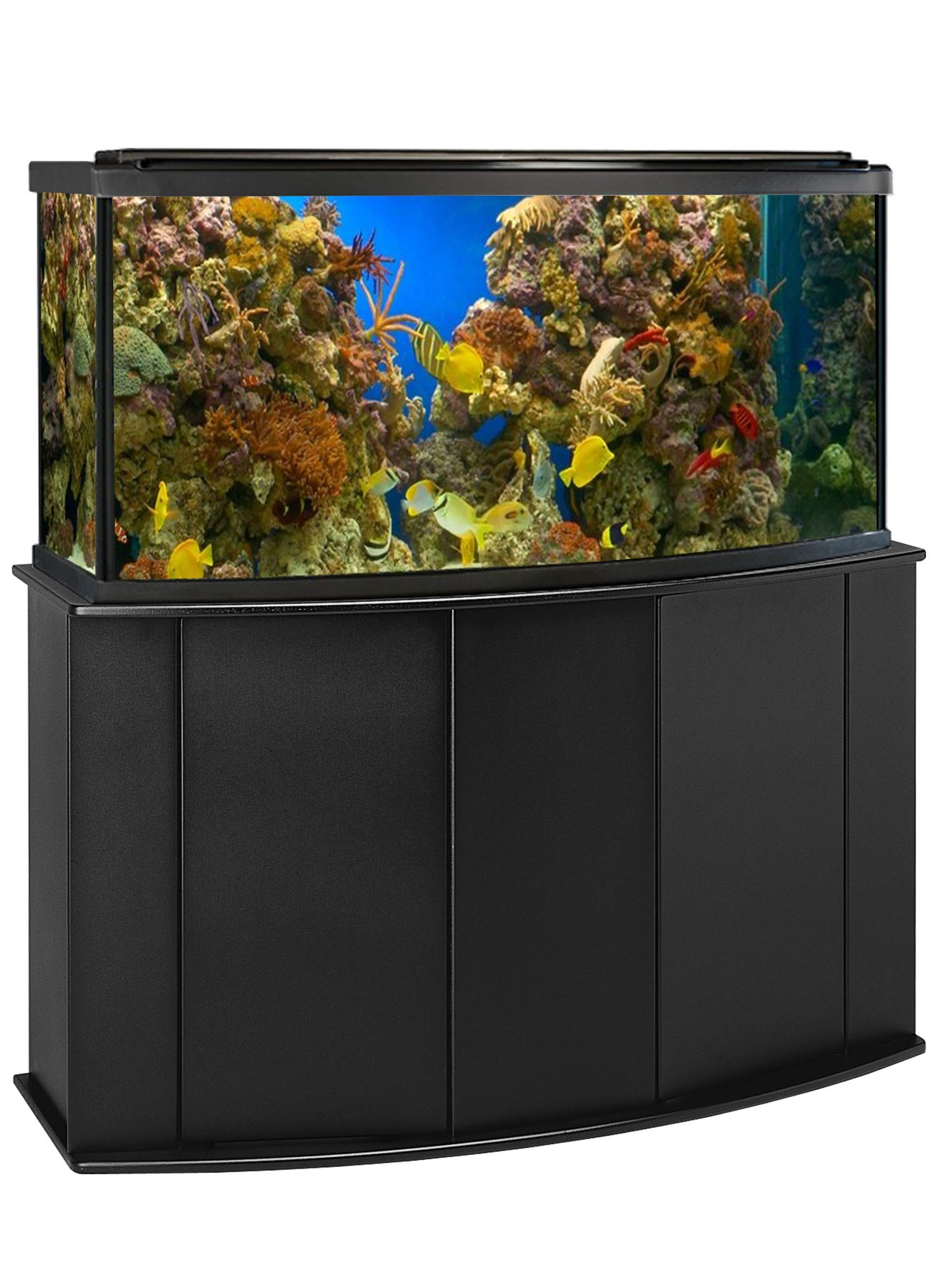 Aquatic Fundamentals AMZ-16721 Aquarium Stand, Bow Front, Black by Aquatic Fundamentals