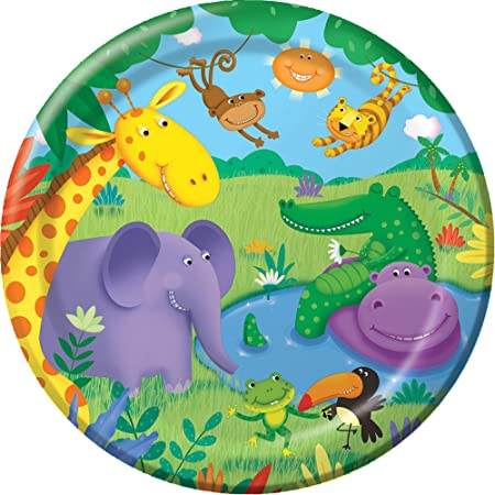 8x Jungle/ Wild Animals/ ZOO Party Paper Plates 9u0027u0027 ...  sc 1 st  Amazon UK & 8x Jungle/ Wild Animals/ ZOO Party Paper Plates 9u0027u0027 (23cm): Amazon ...