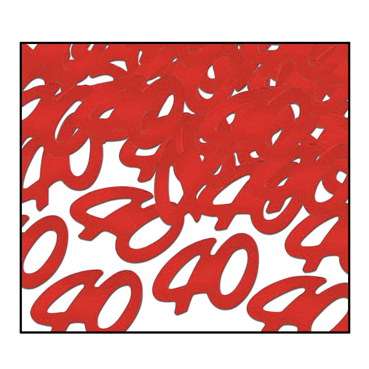Party Central Club Pack of 12 Red Fanci-Fetti 40'' Celebration Confetti Bags 0.5 oz.