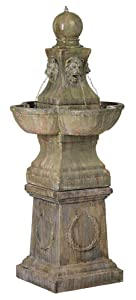 "John Timberland Tuscan Garden Pedestal 54"" High Outdoor Fountain"