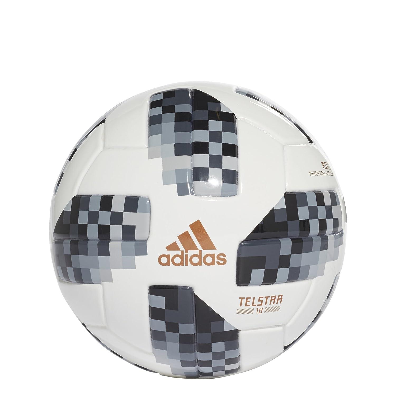 adidas World Cup 2018 Mini Ball- Blanco/Negro 1: Amazon.es ...