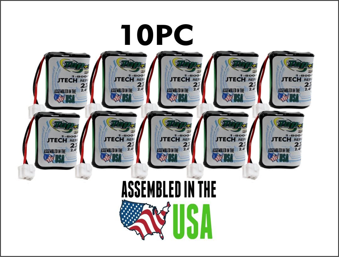 10PC 232020 JTech Battery , Restaurant Pager 2.4 v Battery TOP BATTERY SOLUTIONS