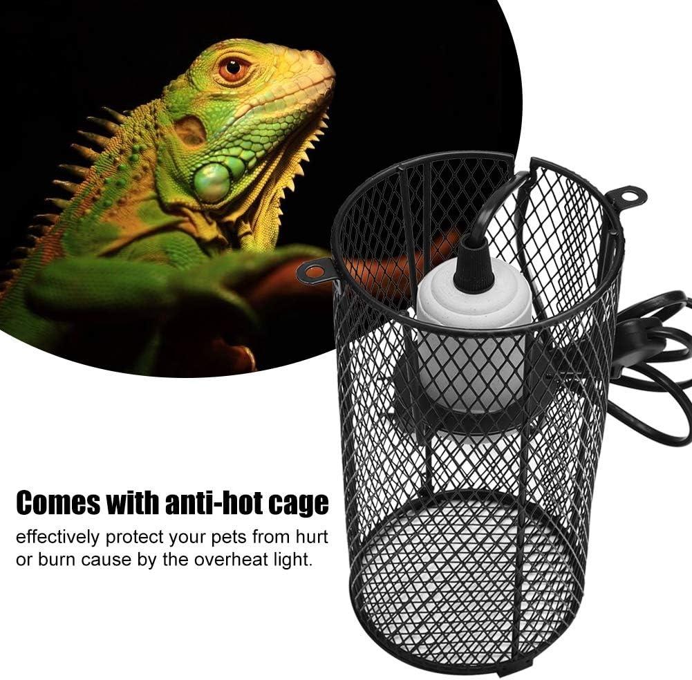 L/ámpara calefactora de cer/ámica de Reptil Luz con Soporte Anti-Caliente para Serpiente Tortuga Lagarto Regun L/ámpara calefactora de cer/ámica de Reptil AUS 220V